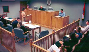 William Woods University's Weitzman Model Courtroom provides a perfect setting for students to participate in mock trials, as well as observe the Missouri Court of Appeals, Western District, when it convenes on campus.