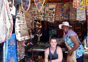 Mason Kramer visits an African market.