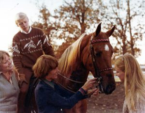 Gayle Lampe teaches a student years ago.