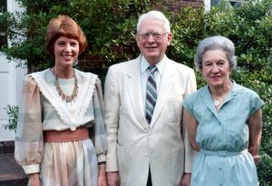Gayle Lampe and her parents