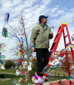 Terry Martin installs the Wings project.