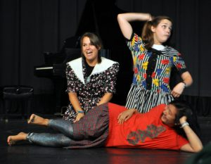 Middle school students enjoy a little theatre during their session.