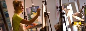 Painting is one form of expression that will be explored in the workshops.