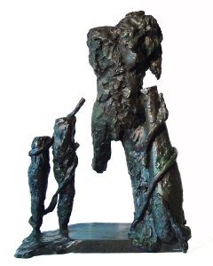 Laocoon, a bronze by Ed Smith, is approximately 4 feet tall.