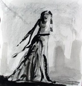 A drawing by Ed Smith, recent inductee into the National Academy of Art.