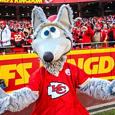 KC Wolf at Arrowhead Stadium