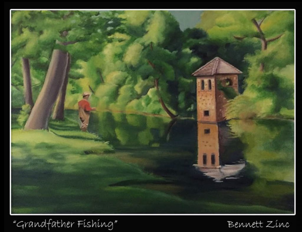 """""""Grandfather Fishing"""" by Bennett Zink"""