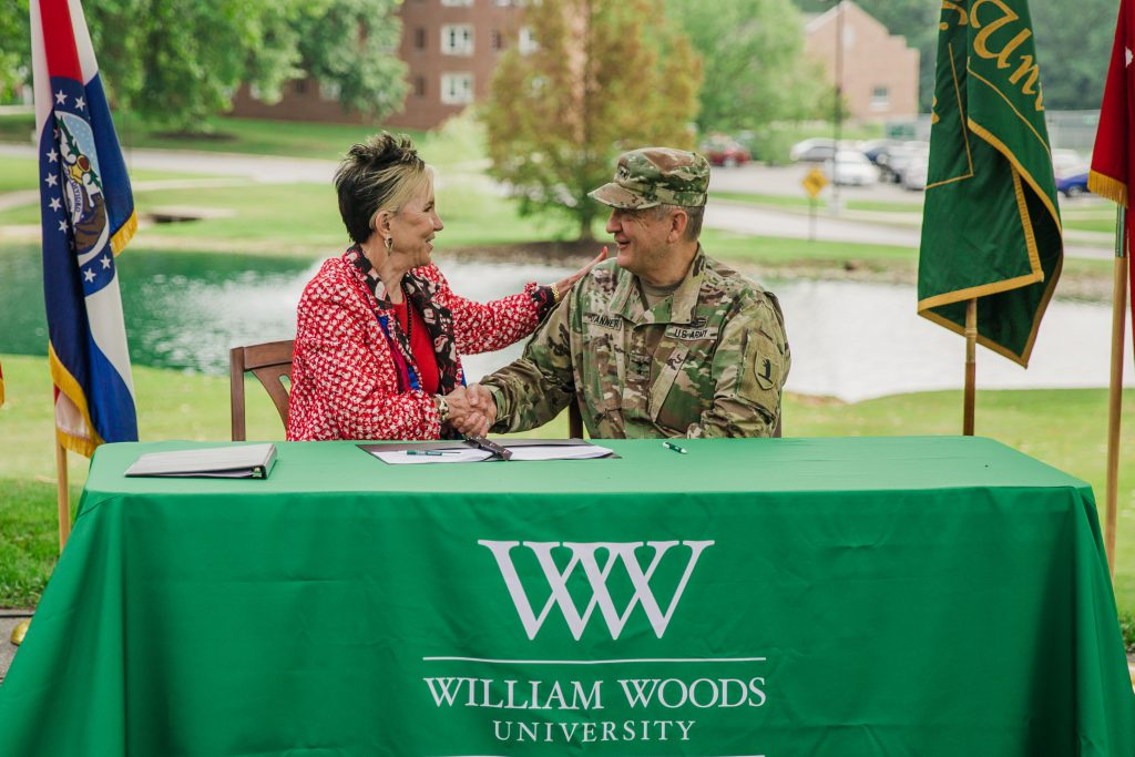 Major General Danner and President Dr. Barnett
