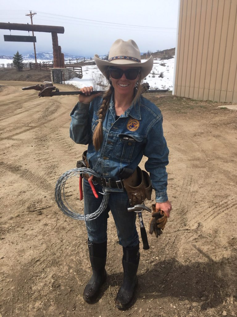 Mandy Griffey ready to repair fences