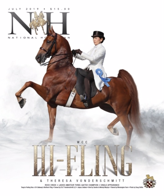 Theresa Vonderschmitt riding Hi Fling