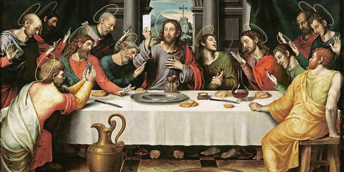 """A new take on """"The Last Supper"""" entitled """"The Last Selfie"""""""