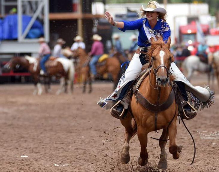 Ashley Bauer representing as Miss Rodeo Missouri 2018
