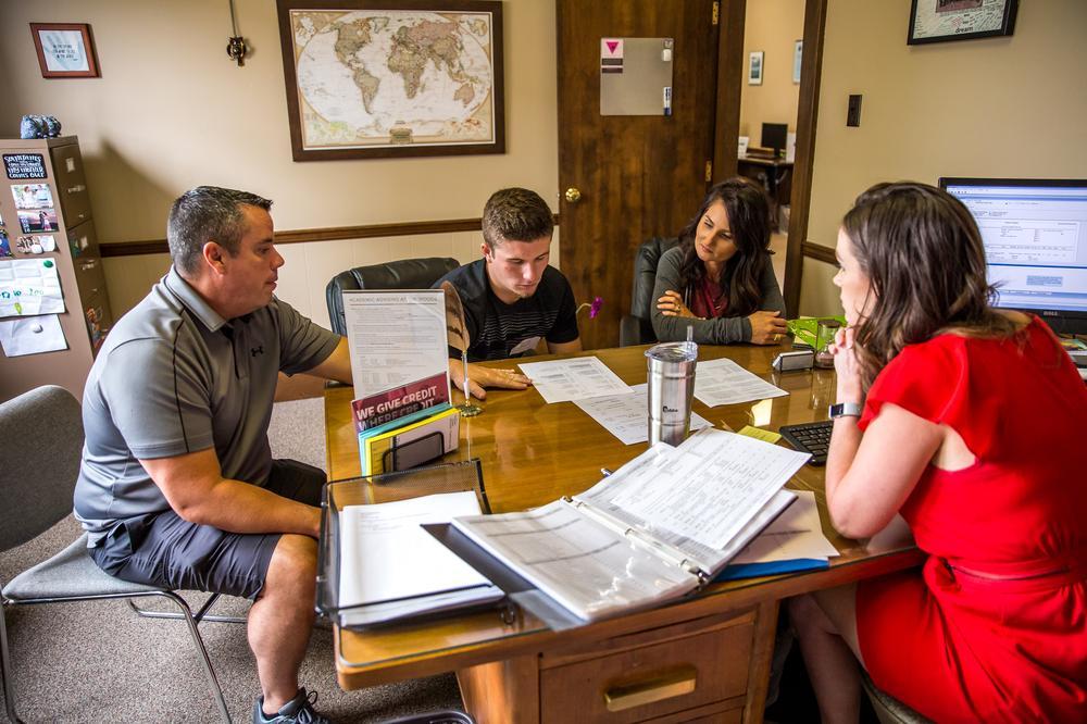Katie Belenchia advising a prospective family