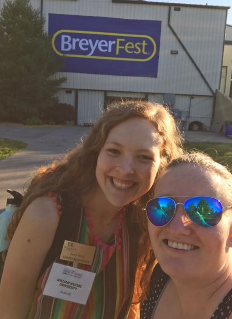 Raechel and a student at Breyerfest