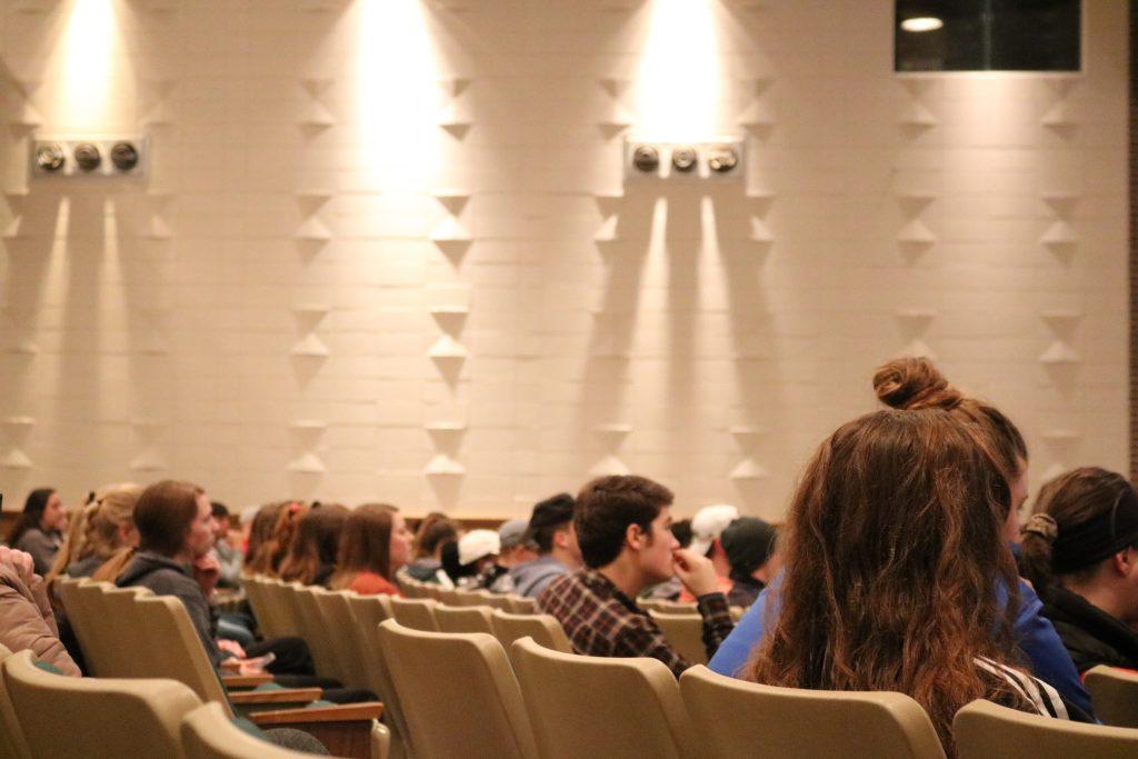Audience in Cutlip Auditoirium